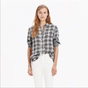 Madewell Tops - Madewell Ex Boyfriend Plaid Kemp Shirt